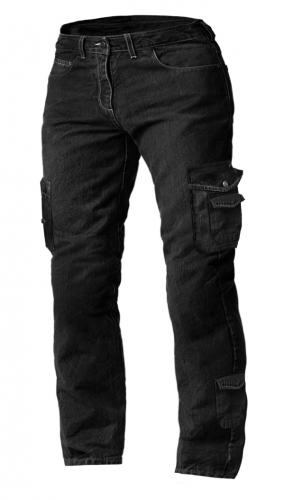 DENIM SIDEPOCKET RANGES KEVLAR JETBLACK MC BYXA SP-01