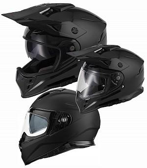 V331 DUAL SPORT CROSS / MOTORCYCLE 3in1 BLACK MATT Motorcycle / Crosshjälm