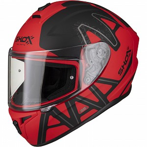 SHOX SNIPER EVO CALIBER MATT RED 0203 MC HELMET