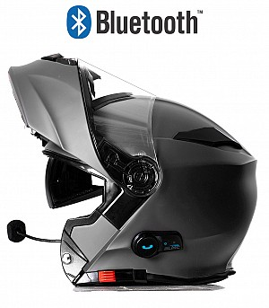 BLINC BLUETOOTH TITANIUM RS983 STEREO MC HELMET