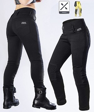 LADY KEVLAR LEGGINGS BIKER MC TROUS