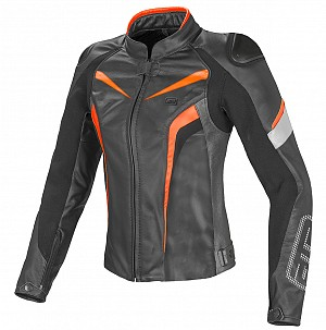ATA LADY PROSPECT ORANGE MOTORCYCLE LEATHER JACKET 1561