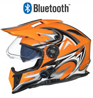 BLINC BLUETOOTH RX-968C ORANGE STEREO CROSS HELMET