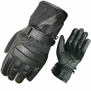 BLACK Airflow 5192 leather mc gloves