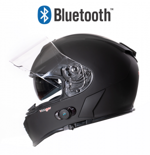 BLUETOOTH MATT BLACK RT770 MC HELM