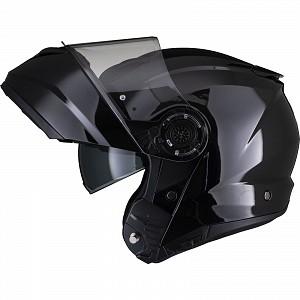 Black Optimus II Flip Front Gloss Black 53071503 Opening mc helmet