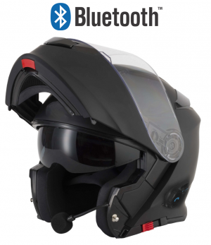 BLINC V5 BLUETOOTH MATT BLACK STEREO MC HELMET