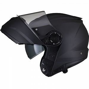 Black Optimus II Flip Front Matt Black 53073503 Opening mc helmet