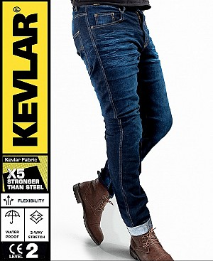KEVLAR CRUISER V2 WP CLASSIC DENIM BOBBER MC JEANS