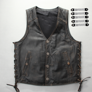 PREMIUM BIKER REAGER DISTRESSED HD Leather vest