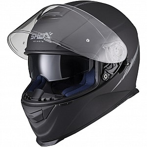 SHOX ASSAULT EVO MATT BLACK SUNVISOR 3003 MOTORCYCLE HELMET
