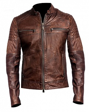 ATA LADY GHOSTRIDE MOTORCYCLE LEATHER JACKET