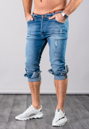 SUPREME AV8 LIGHT BLUE TX CARROT FIT JEANS
