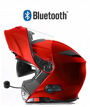 BLINC BLUETOOTH MATT RED RS983 STEREO MC HELMET