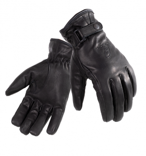 BLACK Echo Leather Motorcycle 50990106 MC HANDSKAR
