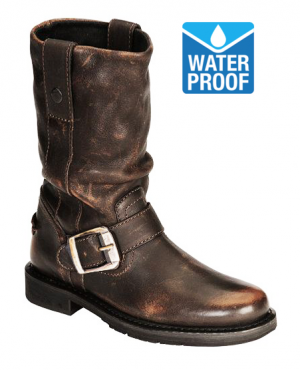 CHOPPER VINTAGE BROWN WATERPROOF MC BOOTS 6003