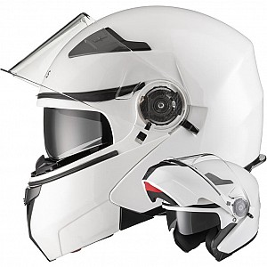 AGRIUS FURY FLIP FRONT GLOSSWHITE MOTORCYCLE 1003