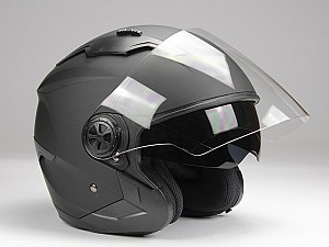 BNO JET 300 MATT BLACK JET MC HELMET