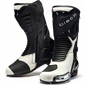 Black Panther Sports 52661044 WHITE Motorcycle boots