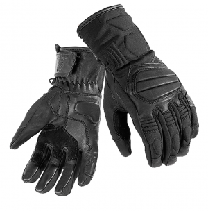 BLACK Duo Leather Motorcycle 51910106 MC GLOVES
