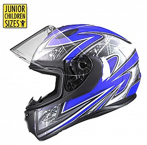 SA03 Junior Blue Shiny MC Helmet
