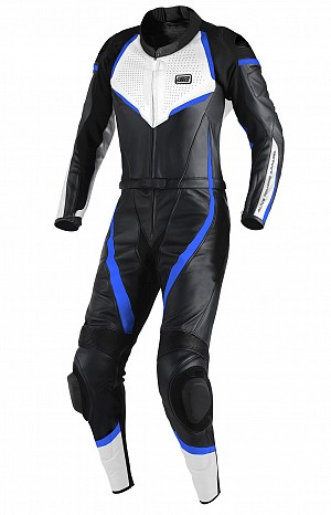 ATA Blue Overthrow 2-delat leathersuit