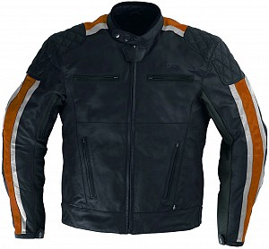 ATA LOWRIDER ORANGE HD LEATHER MOTORCYCLE JACKET 1441