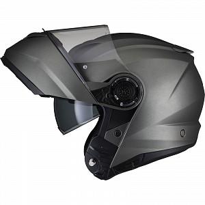 Black Optimus II Flip Front Matt Titanium 53074503 Opening mc helmet