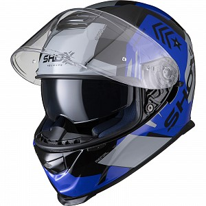 SHOX ASSAULT EVO RECOIL BLACK/BLUE 0303 MOTORCYCLE HELMET