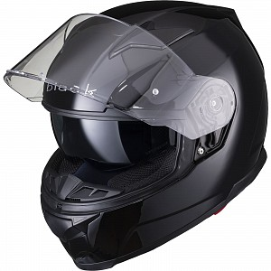 BLACK APEX FULL FACE Motorcycle Helmet GLOSS BLACK SOLVISIR 53051503