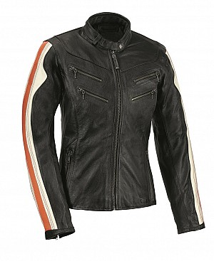 ATA LADY ANTIQUE MOTORCYCLE LEATHER JACKET 90505