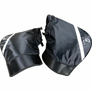 Black Meta Motorcycle Bar Muffs windproof 5126 hand warmer