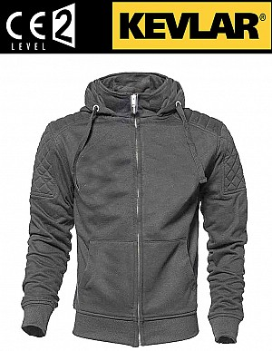 KEVLAR CLASSIC GRAY CE PROTECT MC HOODIE