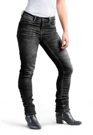 LADY RANGER GREY KEVLAR denim jeans motorcycle trouser