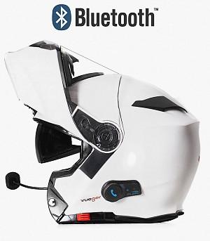 BLINC BLUETOOTH MATT WHITE RS983 STEREO MC HELMET