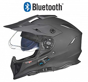 BLINC BLUETOOTH RX-968 MATT BLACK STEREO CROSS HELMET