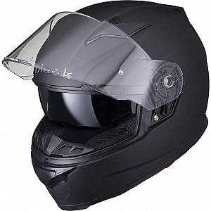 BLACK APEX FULL FACE Motorcycle Helmet MATT BLACK SOLVISIR 5305