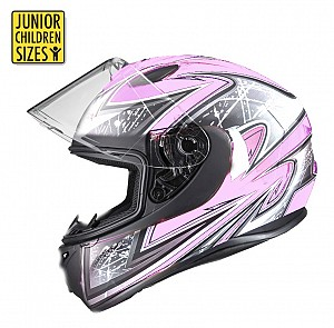 SA03 Junior Pink Shiny MC Helmet