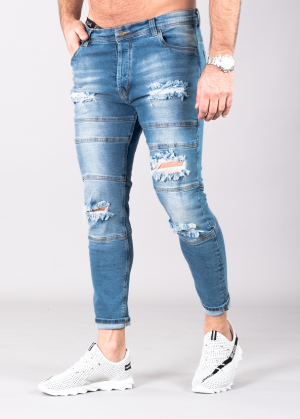 SUPREME AV8 REBEL LIGHT BLUE CARROT FIT JEANS