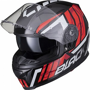 BLACK APEX FULL FACE Motorcycle Helmet GLOSS BLACK SOLVISIR 53051503