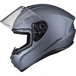 SHOX ASSAULT EVO MATT TITANIUM 1103 MOTORCYCLE HELMET