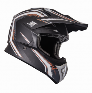 FS 603 MATTBLACK ORANGE PW Cross helmet