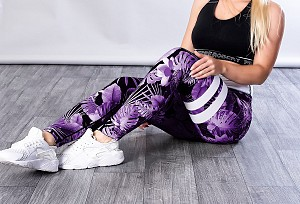 SHAPELAB RESODE PURPLE SCRUNCH LEGGINGS