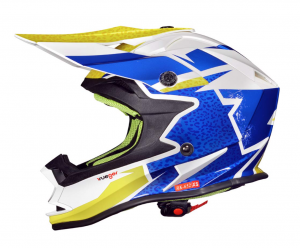 RK652 JUNIOR ROCK BLUE cross helmet