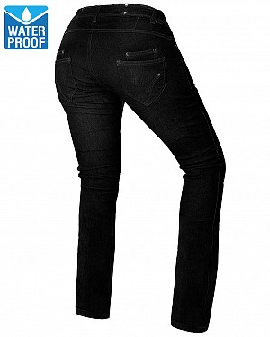 LADY KEVLAR WATERPROOF COMMANDER JETBLACK MC JEANS PANTS 6D5