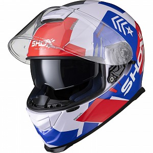 SHOX ASSAULT EVO RECOIL  WH/BL/RED 1003 MOTORCYCLE HELMET
