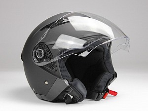 BNO JET 200 MATT BLACK JET MC HELMET