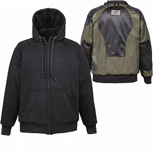BLACK KEVLAR HOODIE LYNX 5231 + CE LEVEL 2 PROTECTED