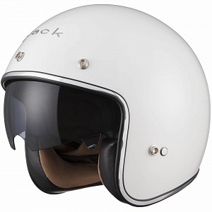 BLACK CLASSIC GLOSSWHITE 51851003 Jet mc helmet