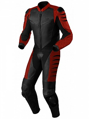 ATA SAVAGE RED 1-piece leather suit